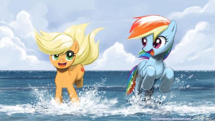 and dash get rainbow married Applejack