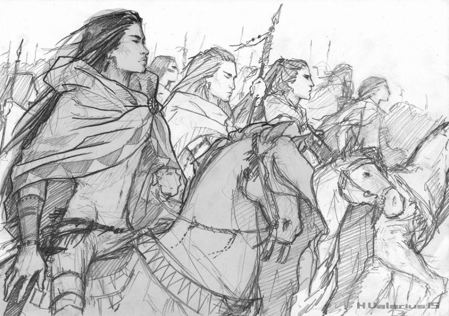 Fanart by Anna Valerius: Kintaro and the Essanti warriors