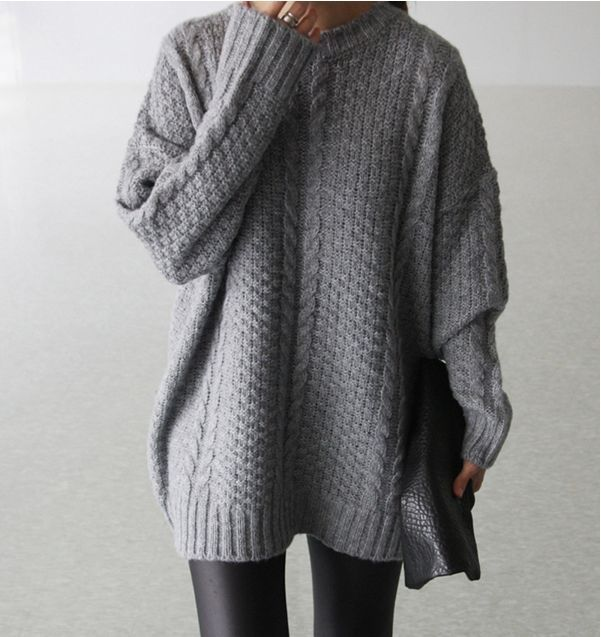 Here is what I mean by saggy sweaters with leggings