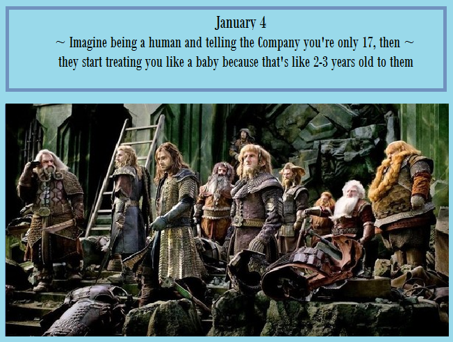 The Hobbit Imagines IV - Imagine telling the Company you're