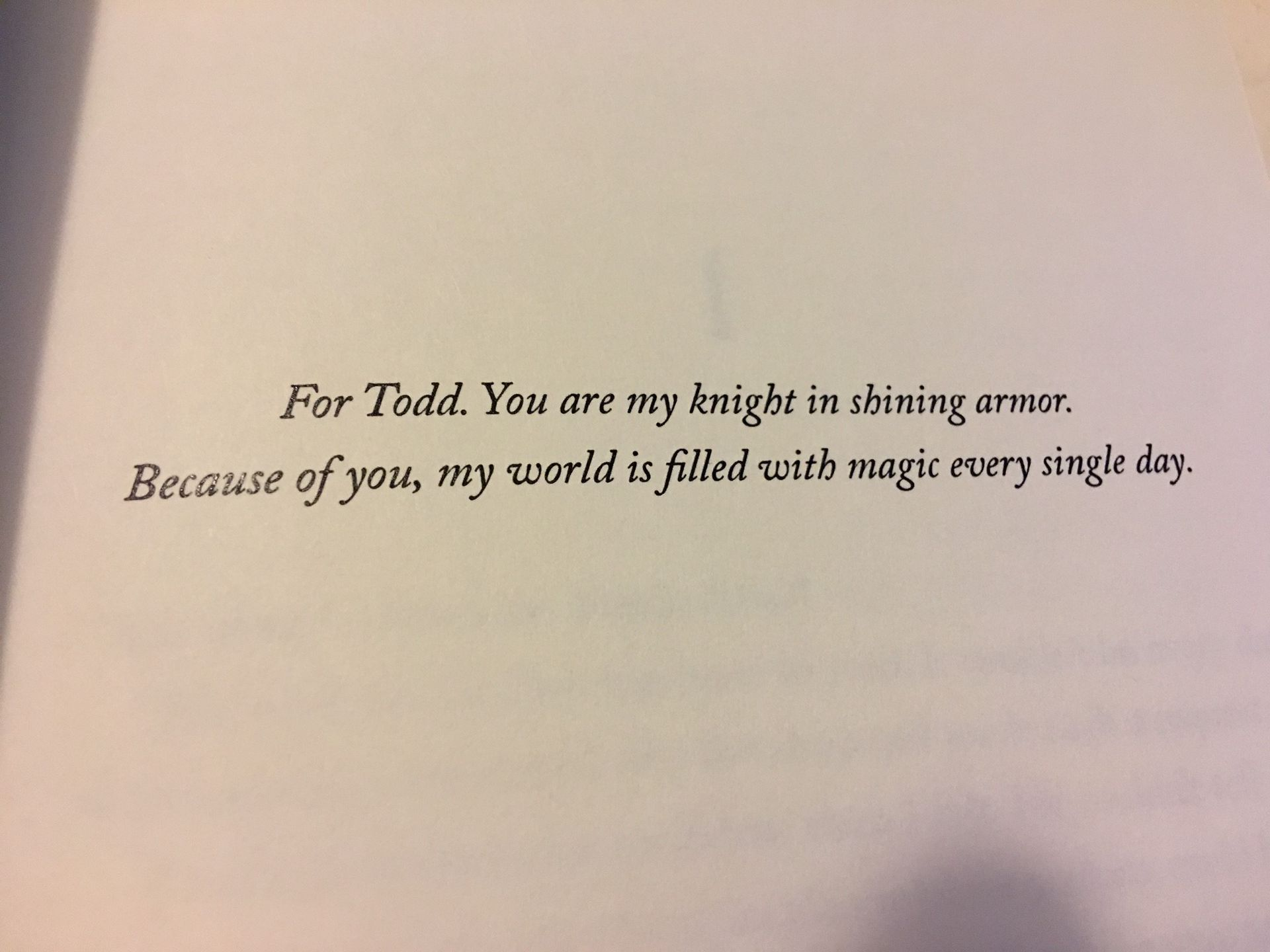 Book Dedication: