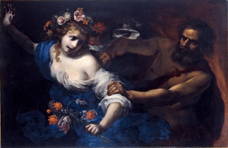 Un día, el dios de los muertos, Hades, que vivía en el mundo infernal rodeado de tinieblas, se enamoró profundamente de Perséfone