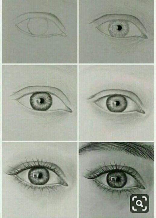 تعليم الرسم خطوة بخطوة تعليم طريقة رسم العين بالطريقة