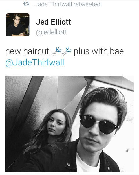 """""""Oh looked jade retweeted something"""" she said and i looked at my phone to see it i gasped"""