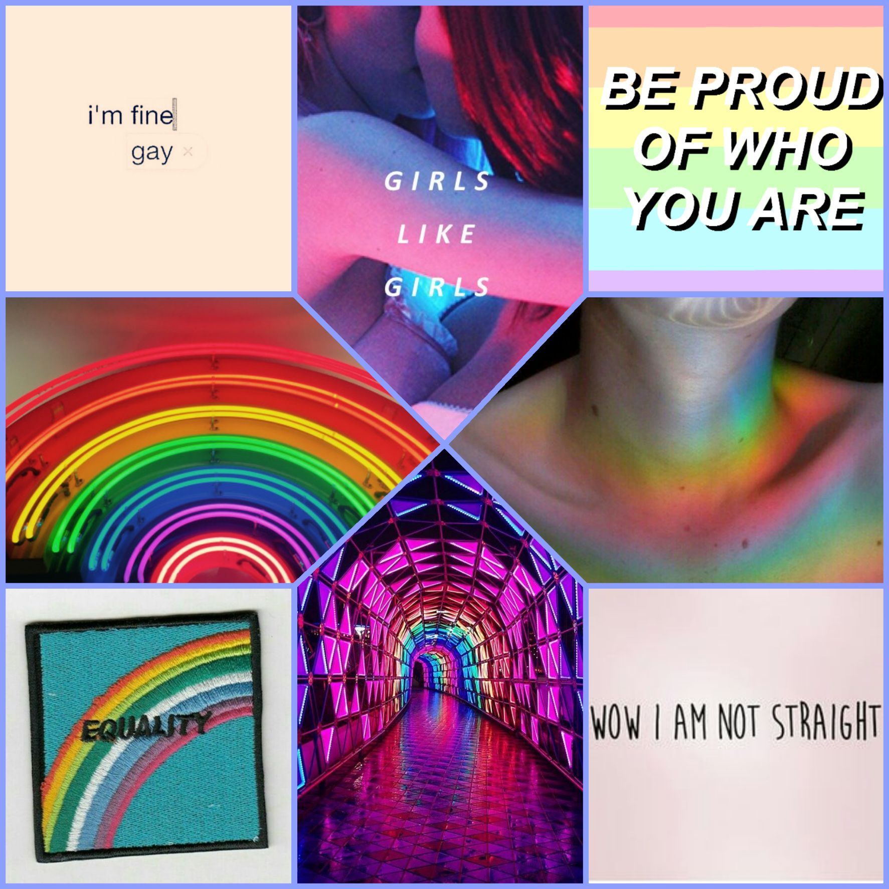 Here is some pride aesthetics that i made!