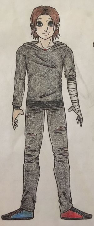 I found an old drawing I made for this story, I like it so I decided to show you guys