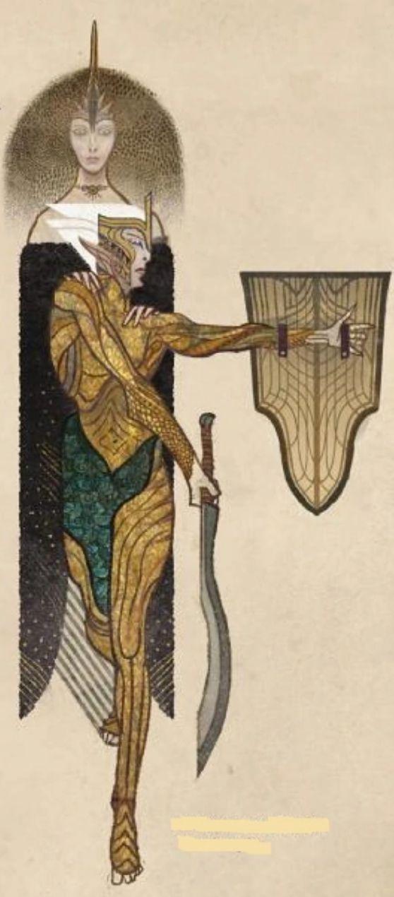 - Pero Solas nunca ha luchado con escudo y espada