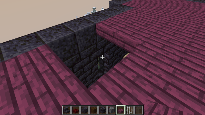 If you want to make the floor of the upper floor from wood, but if you say that the wooden ceiling does not look good from the first floor, put a half block of different stone on it and put the wooden block on it.