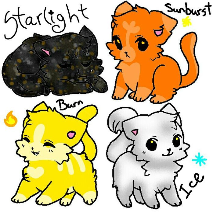 Starlight, Sunburst, Burn, and Ice