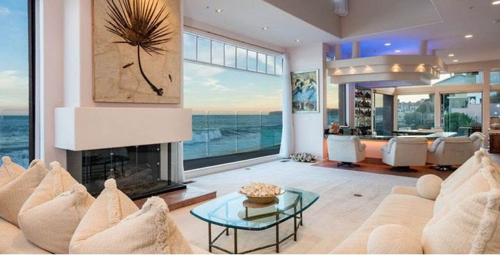 The oceanfront home was 6,100 in square feet