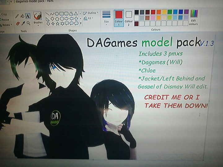 mmd models by me and tda pictures dagames model pack maybe for