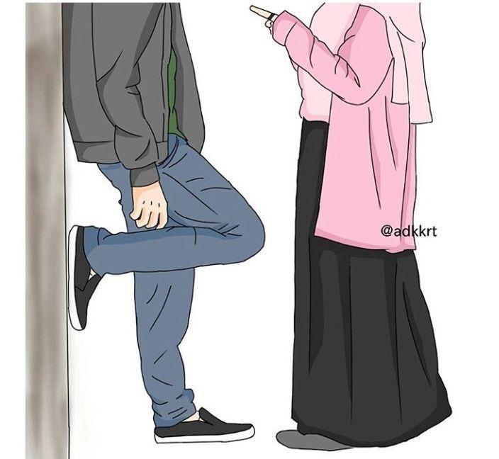81 Gambar Kartun Muslimah Dengan Pasangannya Terbaik