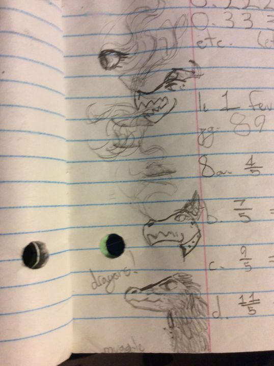 Dragon doodles, plus a velociraptor! Not much to say about this one