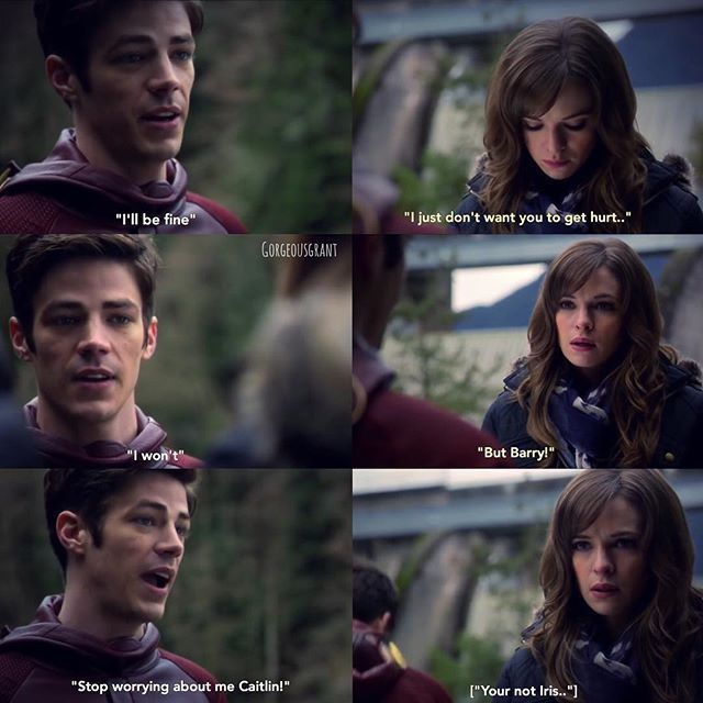 Caitlin then walked up to barry, although saying goodbye is the last thing she wants to do she still had a fear or was it a feeling he was going to get hurt