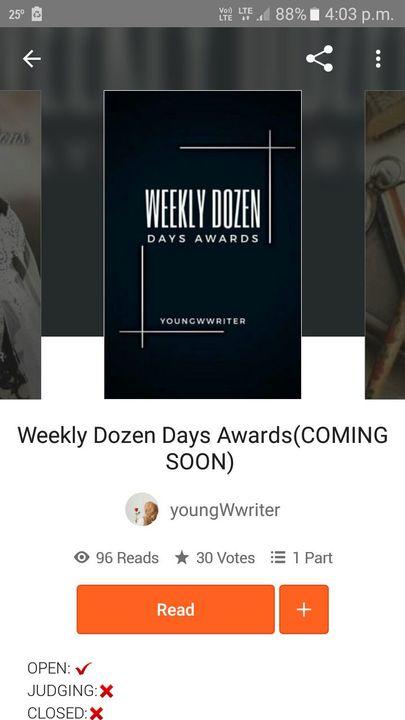 Weekly Dozen Days Awards