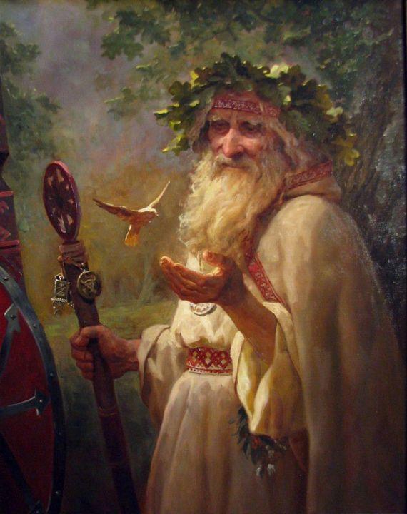 Kroniki Saxo Gramatyka i Helmolda wiążą żerców ze Perunem, Świętowitem i Prowe, zaś biskup Thietmar z Merseburga porównał ich do sług Swarożyca