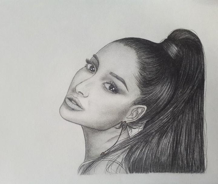 ariana grande zeichnen einfach