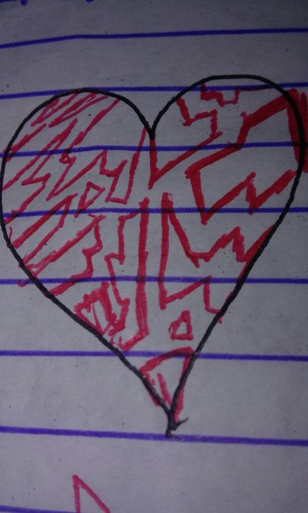 You can see that i draw hearts when im bored xD