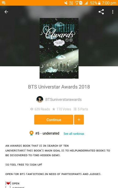 Hey! So this is to tell you all that I am participating in the BTSuniverstarawards!!!!