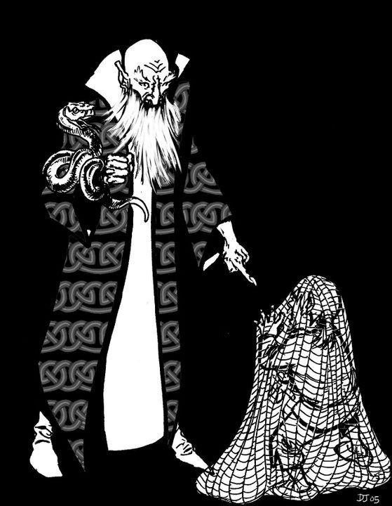 Il était complètement à la merci du sorcier qu'il était venu combattre