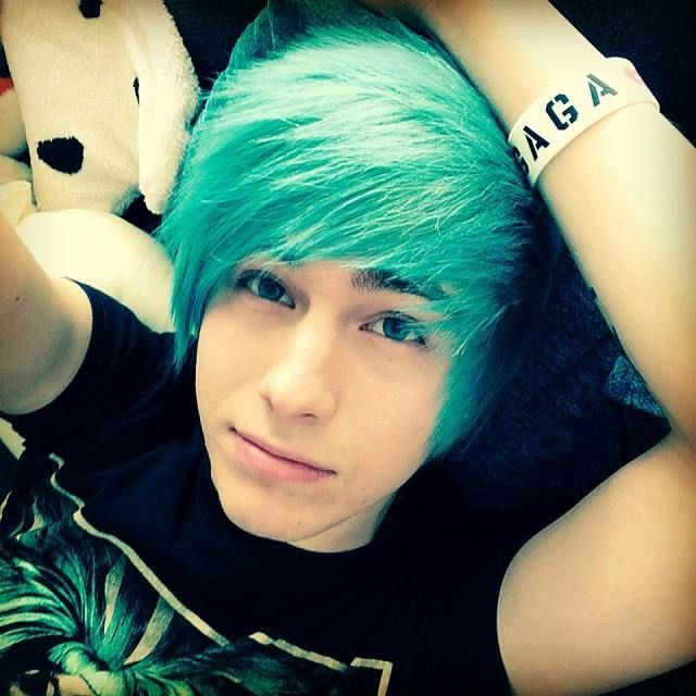 Jack (I couldn't find a guy with green hair that I imagined Jack as)