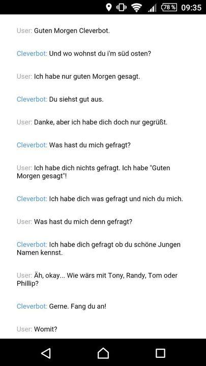 Cleverbot Und Flöhchen Guten Morgen Wattpad