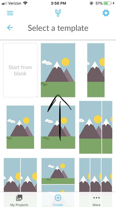 step two: if you already have your cover/picture you want to use, click the one mountain