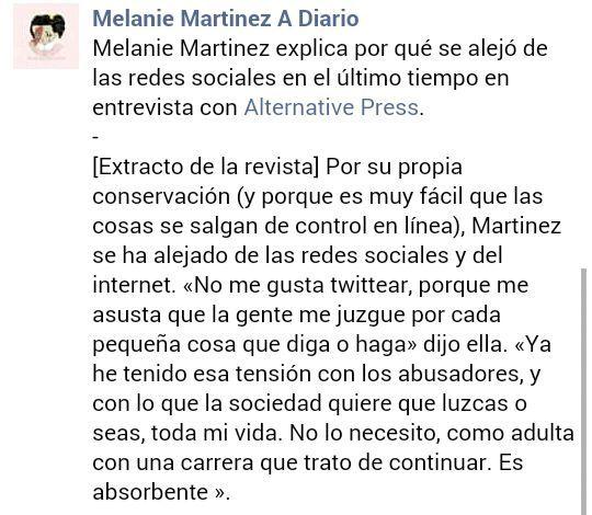 Universo Melanie Martínez - Revista Alternative Press - Wattpad