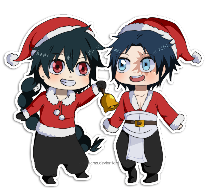 Both you and Elizabeth were wearing the traditional Christmas clothes