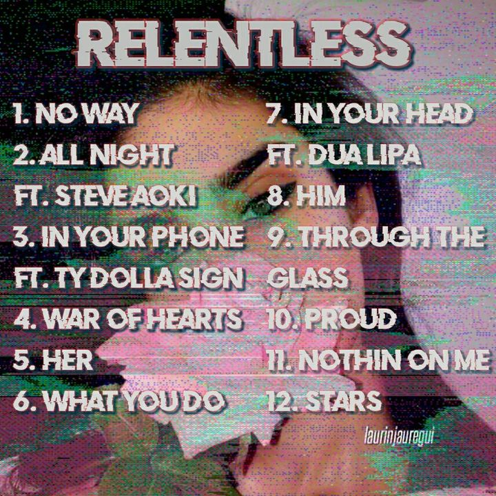itarosastark: so excited to finally release my third album 'relentless'!! all these songs were so much fun to make and I had a blast recording these colabs ! i hope you all enjoy listening to it as much as i enjoyed making it 💕💕💕 I also have a...