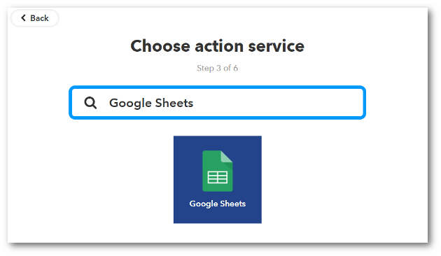 As with Gmail, if you haven't used Google Sheets with IFTTT previously, you'll have to click the Connect button and ensure the two are connected