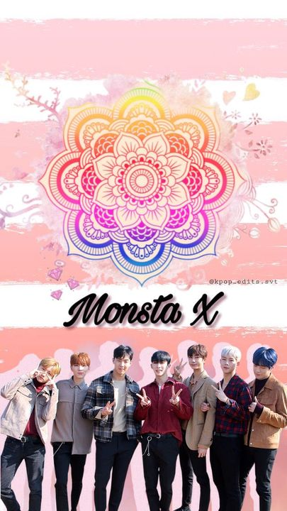 Kpop Wallpapers And Edits Monsta X Group Wallpaper Edit Pink