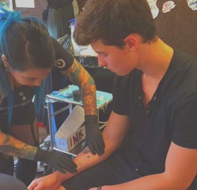 Shawn officially got his first tattoo! Not photoshopped aka