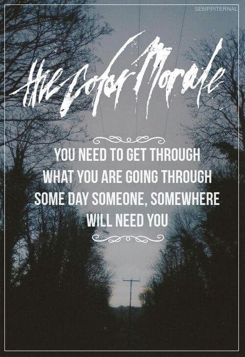 Band Quotes The Color Morale Wattpad