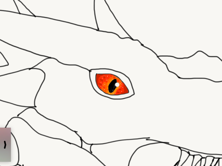 My art book! - Dragon eye (wyvern from Ark scorched earth