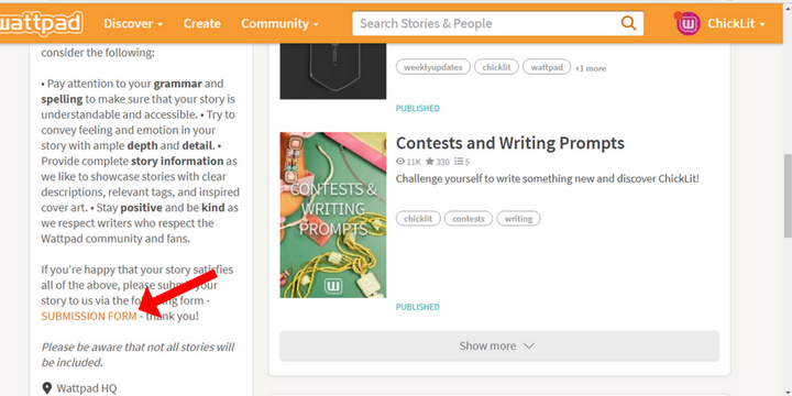This means that when you submit your story to be recommended, it stands the chance to be added to our reading list as well! You can find the link to our submission form in the external link button - alternatively, you can access it via our profil...