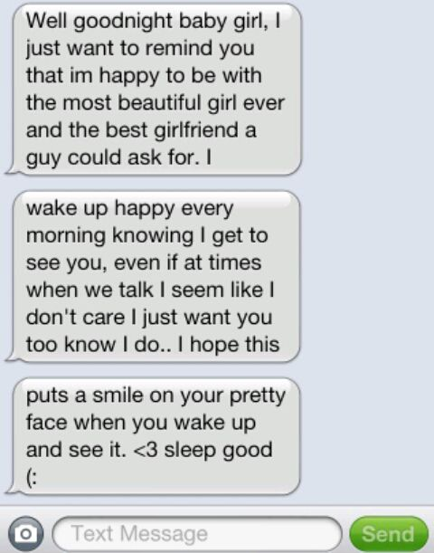 Good night text to a girl you just met