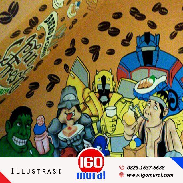Lukis Dinding Cafe Bandung Igo Mural Discount 10 Gratis Video