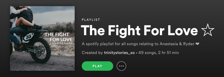 Story Soundtrack available on Spotify @ trinitystories_xo