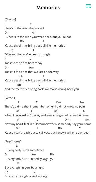 UKE POP (Ukelele Chords & Lyrics) - Memories - Wattpad