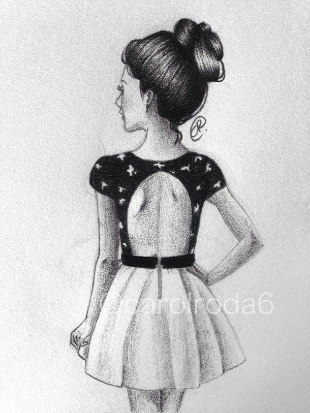 Dibujos De Chicas Con Vestidos A Lapiz Vestidos De Mujer