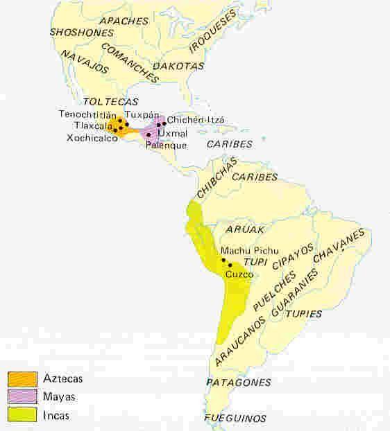 En cuanto al territorio argentino, según el área que ocuparan los indígenas, podían clasificarse en: