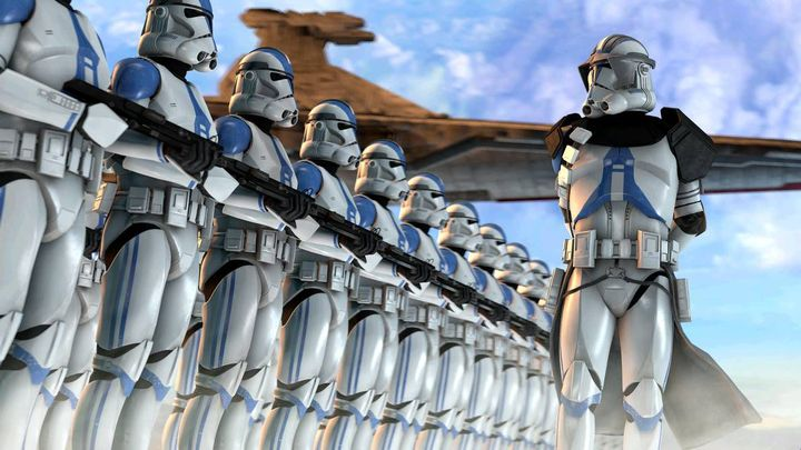My men and I left from our barracks as we saw a new commanding officer from the 501st Legion