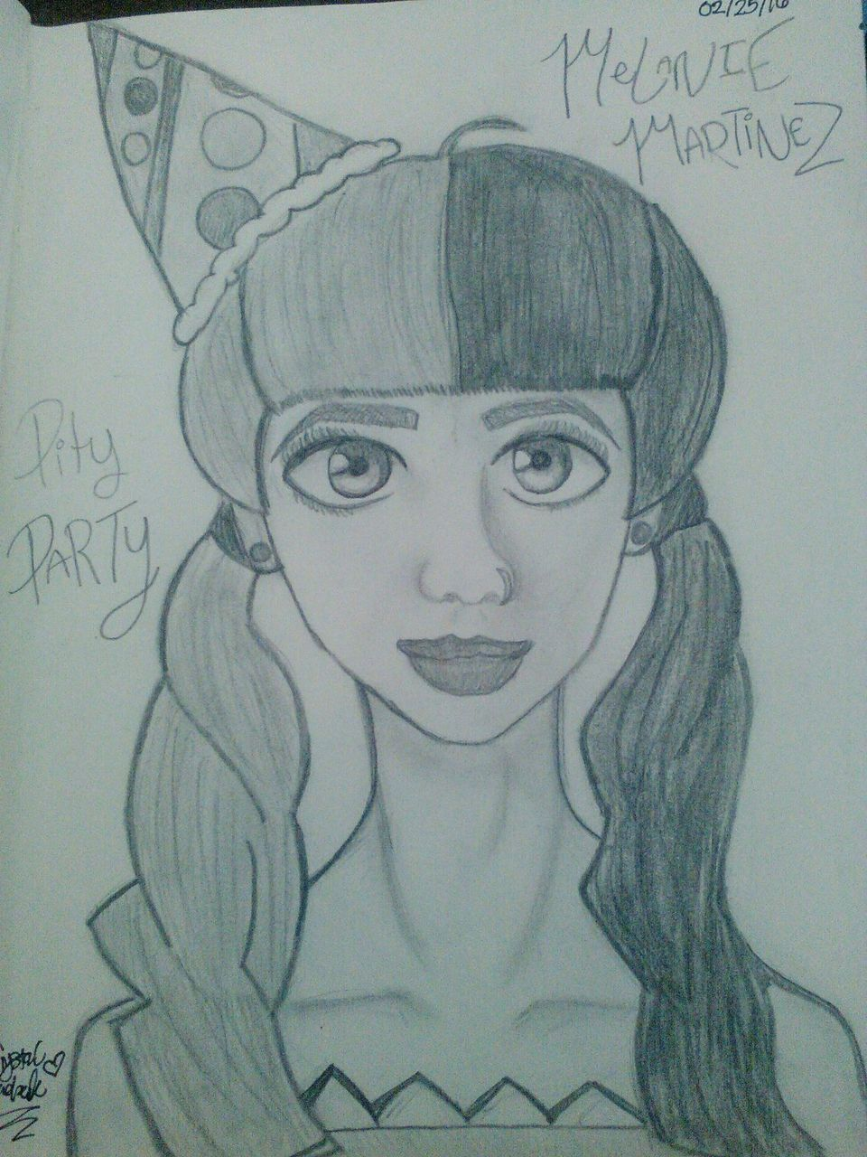 Let's Draw Melanie Martinez Pity Party I Drew This Because My Cousin  Brianna Listens To Her And I Was Like