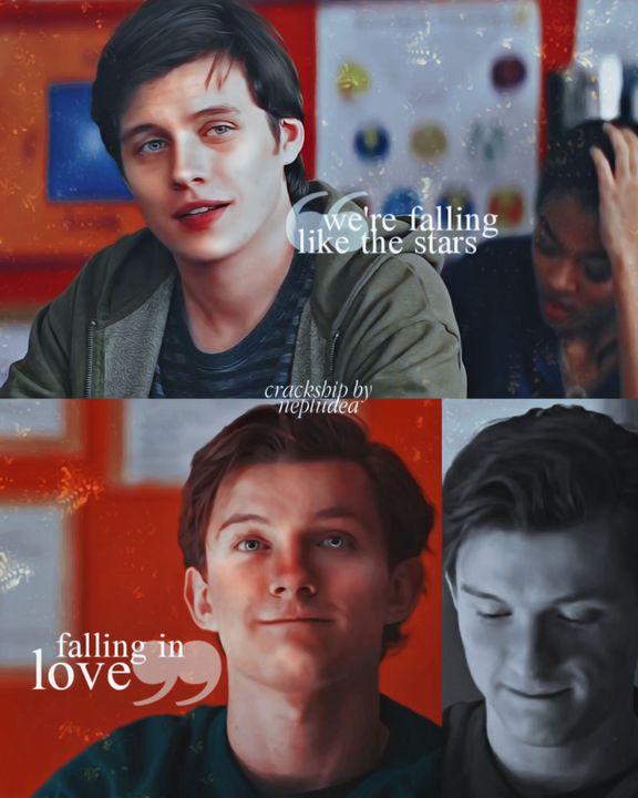 -nós estamos caindo como as estrelas, nos apaixonando (tradução literal: caindo no amor