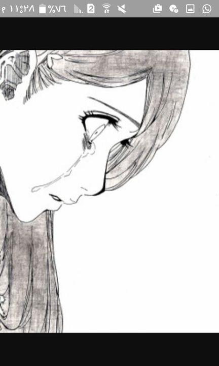 رسم انمي سهل حزين