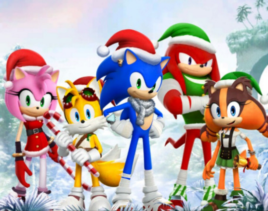 Sonic Christmas.Sonic Christmas Stuff Contains Sonamy Sonic Boom