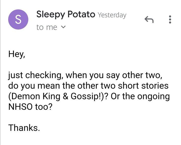 Aku sudah mendapatkan izin dari Penerjemah bahasa Inggrisnya