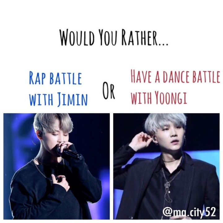 Just a quick bts would you rather quiz to make my book more interesting ^^
