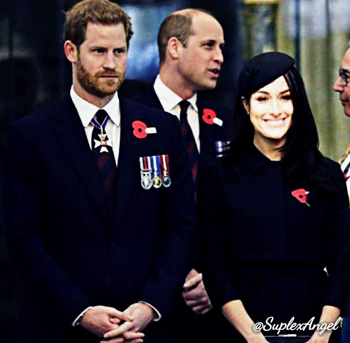 Prince William, Duke of Cambridge, Catherine Middleton, Duchess of Cambridge, Nicole Colace and Prince Harry attend an Anzac Day Service of Commemoration and Thanksgiving at Westminster Abbey in London, England